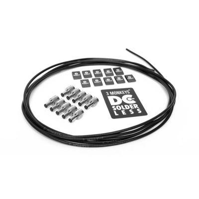 3 Monkeys Solderless DC Pedalboard Power Kit 10ft - Black (10 Plugs)