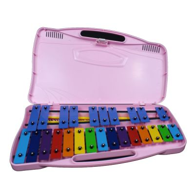 Angel AX25P Glockenspiel in Pink Case with Beaters
