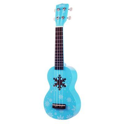 Mahalo Designer Soprano Ukulele - Snowflake Glacier Blue