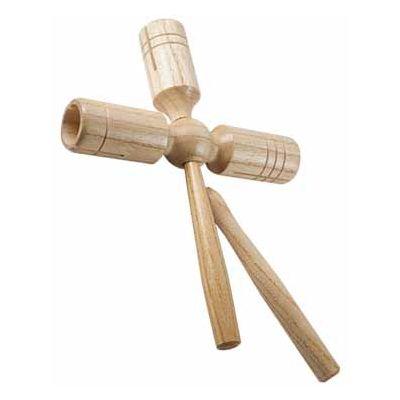Mano Percussion Triple Guiro Wood Tone Block