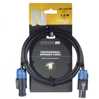 Stagg Speaker Cable 1.5m (Speakon-Speakon) NSP1.5SS15BR