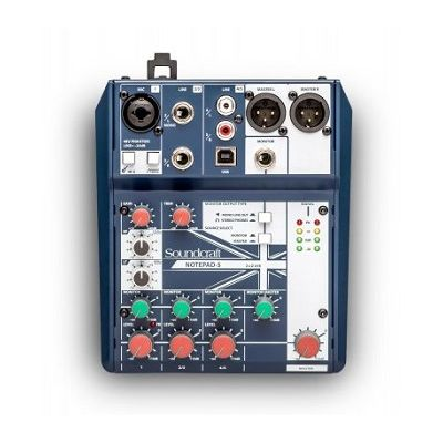 Soundcraft Notepad-5 Mixer with USB