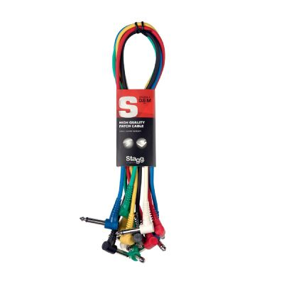 Stagg Instrument Patch Cable 15cm - 6pk