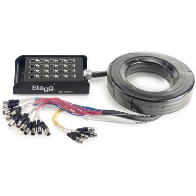 Stagg Stagebox 16 XLR Send / 4 XLR Return - 5m