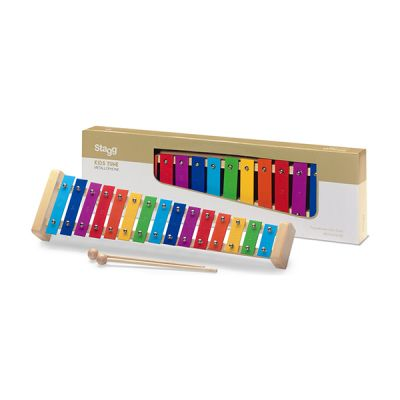 Stagg Metallophone 15 Key Rainbow with Beater