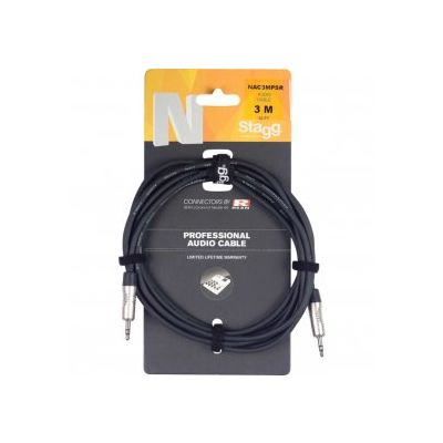 Stagg  Audio Cable 3.5mm TRS 3 Metre NAC3MPSR