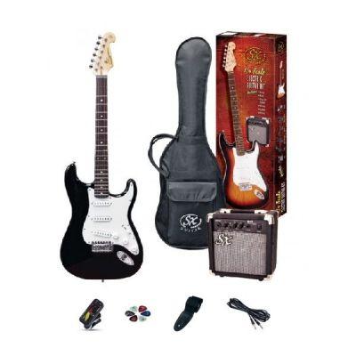 SX 4/4 Electric Guitar Pack - Black